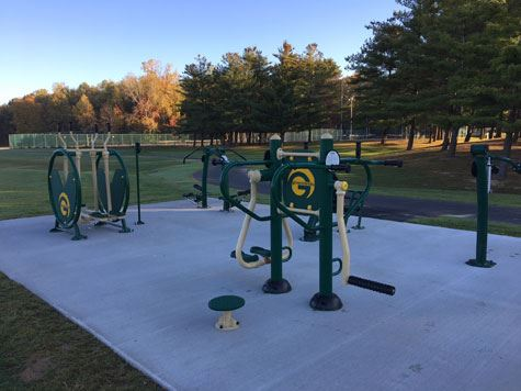Elm Avenue Park Outdoor Fitness Equipment - Cluster 1