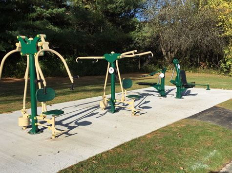 Elm Avenue Park Outdoor Fitness Equipment - Cluster 2