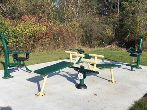 Elm Avenue Park Outdoor Fitness Equipment - Cluster 3