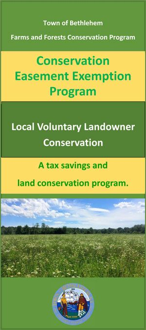 Conservation  Easement Exemption Program -trifold-brochure-front-page-image