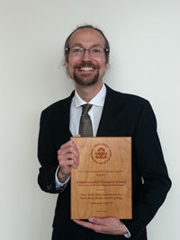 Dan Rain with U.S. EPA Award
