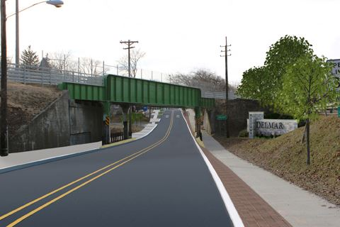 Delaware Avenue at Rail Trail Overpass