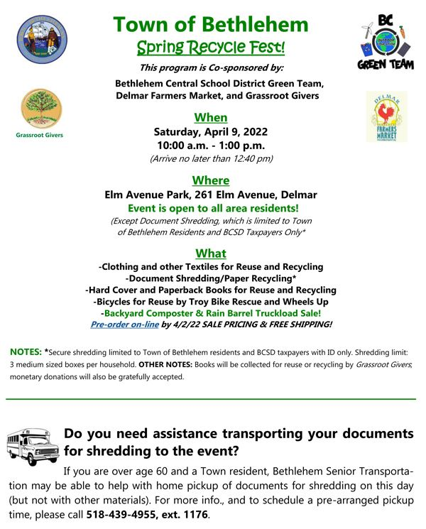 2018 Spring Pharmaceutical Collection Day flyer