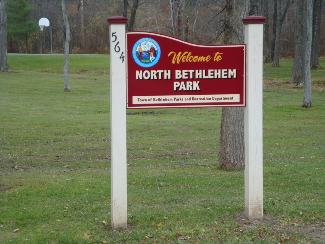 North Bethlehem Park entrance sign